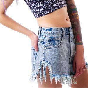 ✨UNIF✨Slitz Shorts in Blue